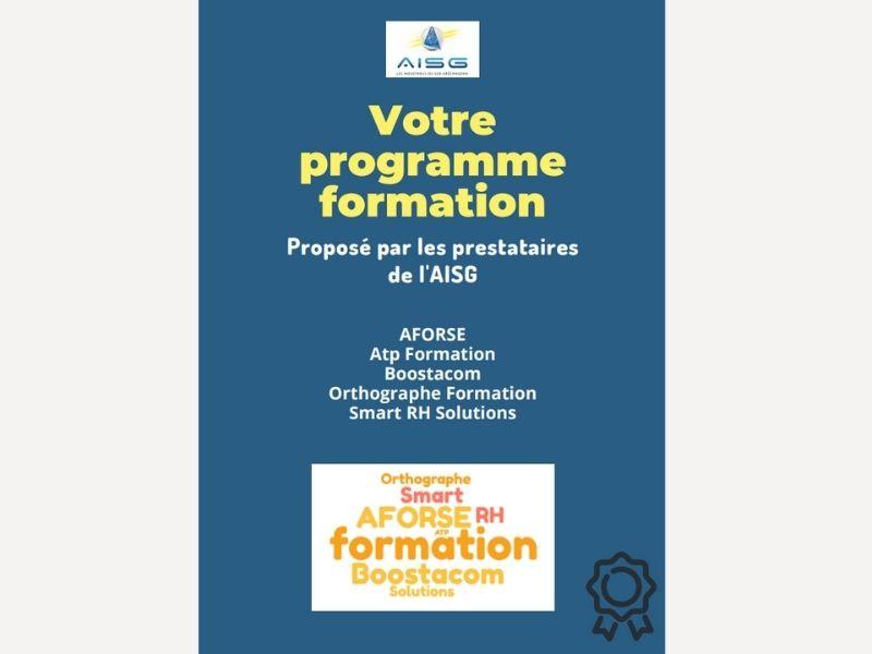 AISG actu- catalogue formation